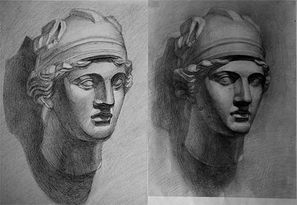 素描零基础素描人像安德烈绘画中央美院唯伟老师余罪张一山