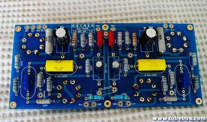 这个电路就是用6sn7做电压放大的单端