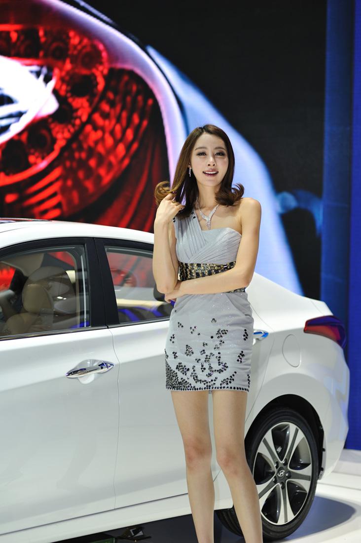 4+sb700北京车展拍美女