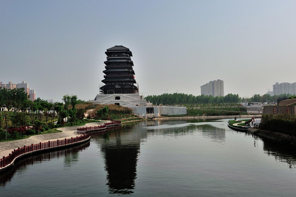 西安漢城湖公園圖片