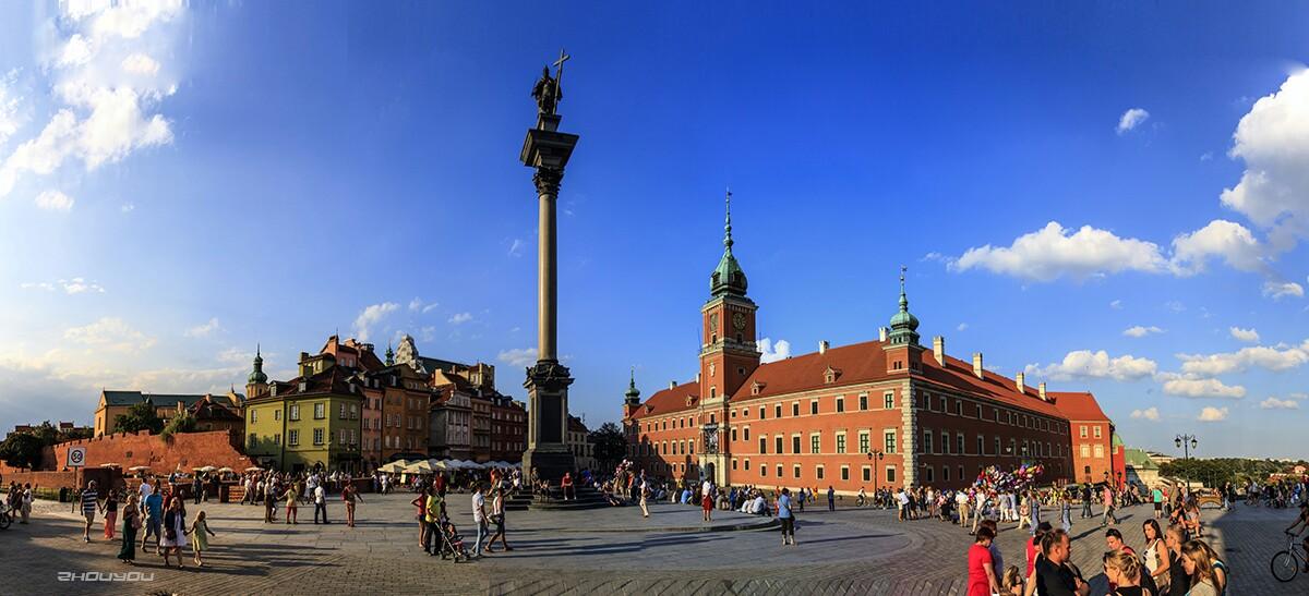 波兰华沙_我想周游兄   波兰华沙皇宫广场