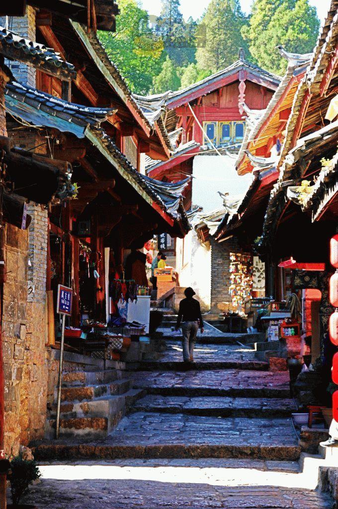 stevenwang作品:云南丽江的古城四方街
