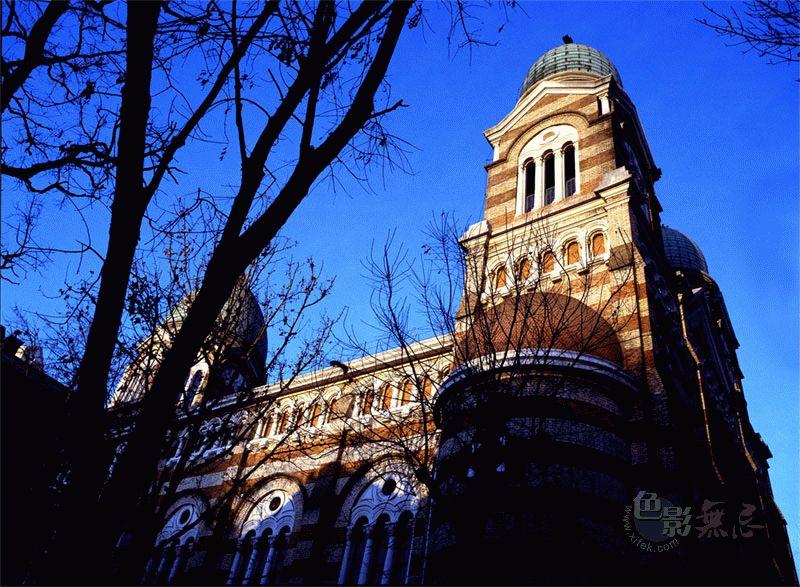 欧式教堂透视图