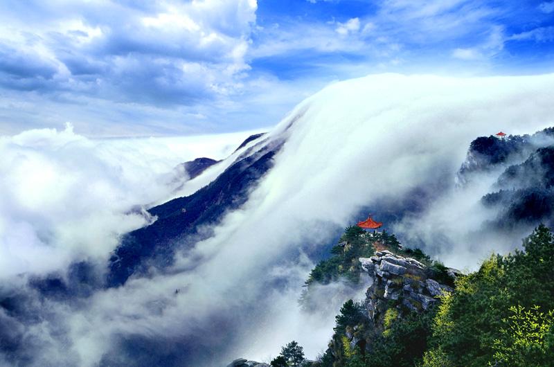 妥鸟作品:庐山瀑布云