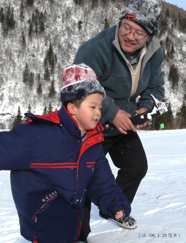 潘安作品:爬雪山