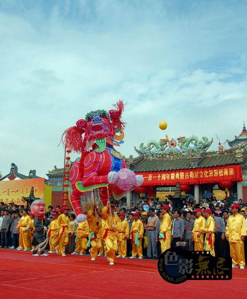 东方摄影爱好者作品:玄武山110年重光民间表演2