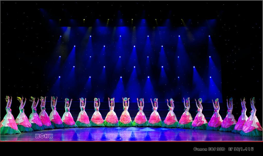 摄于东方歌舞团的文艺晚会 英风妙姿 -wchw摄影作品 舞蹈 荷花梦