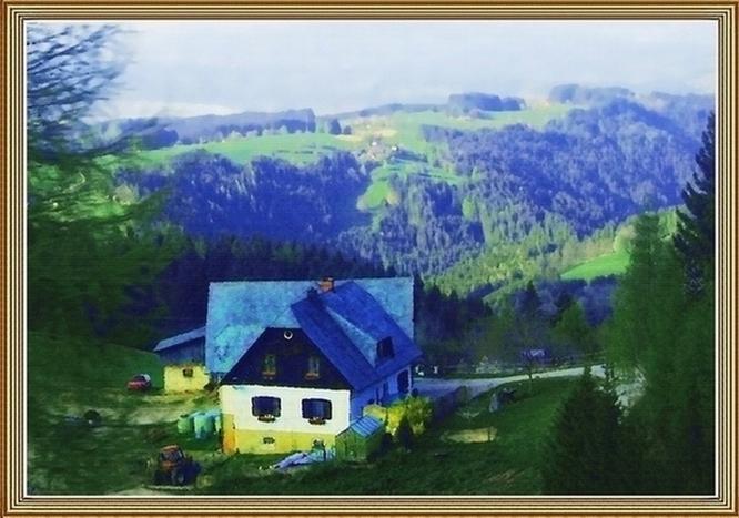 泰山野草作品:意大利农舍