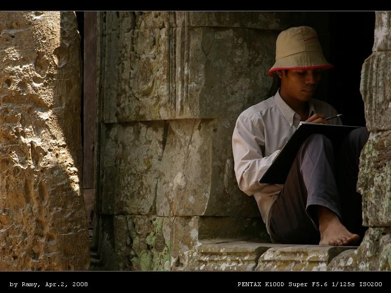 ramy作品:塔布隆寺内的工人