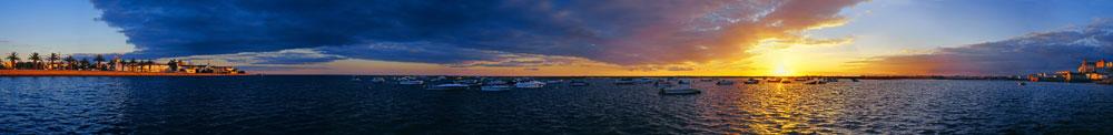 无心色影作品:环摄:大西洋海岸的日落