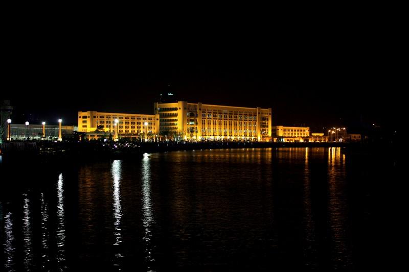 停不下的狗作品:天津海河夜景