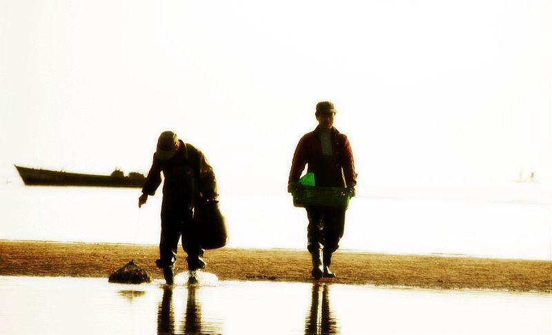紫晓8作品:打渔人