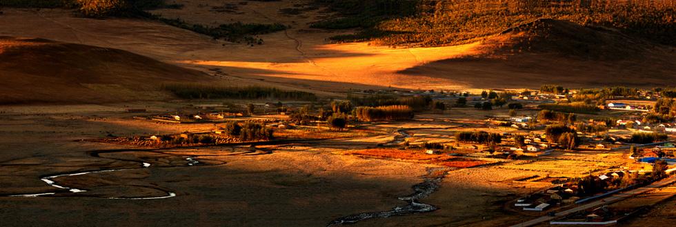 颜明玉作品:清晨的草原