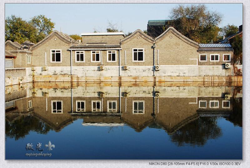 anping作品:护城河边的民房