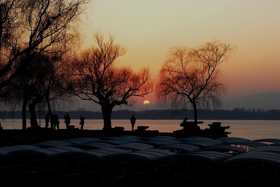 顺文作品:冬日的夕阳
