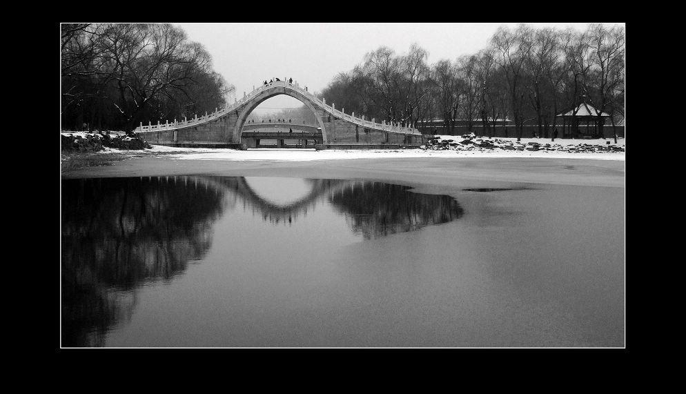 华汉作品:冬末绣漪桥