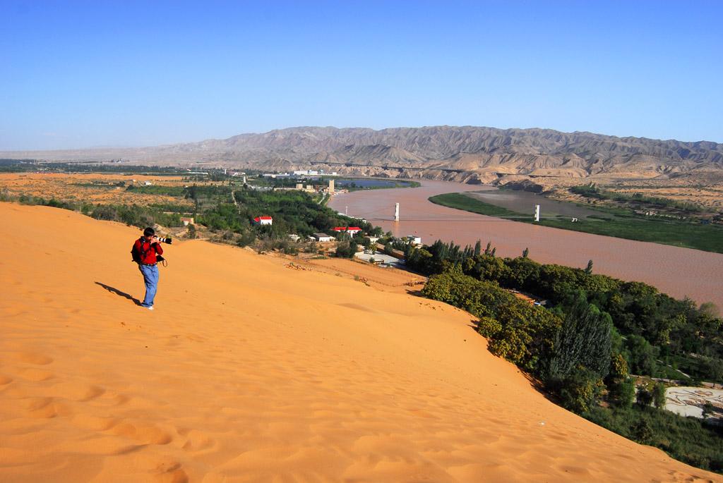 zhengyuping作品:自然奇景----沙坡头的景致