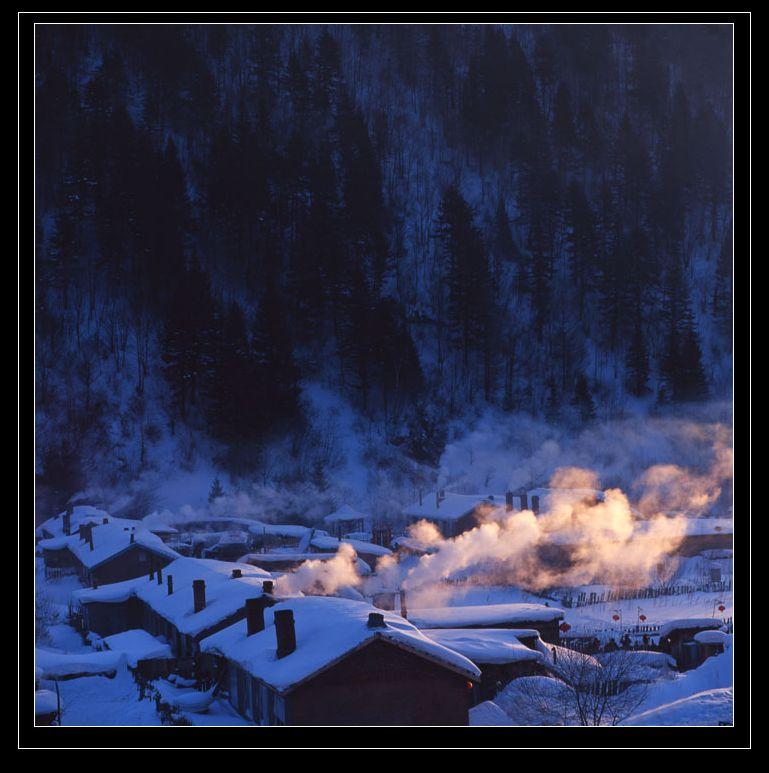 孤影自赏作品:雪乡