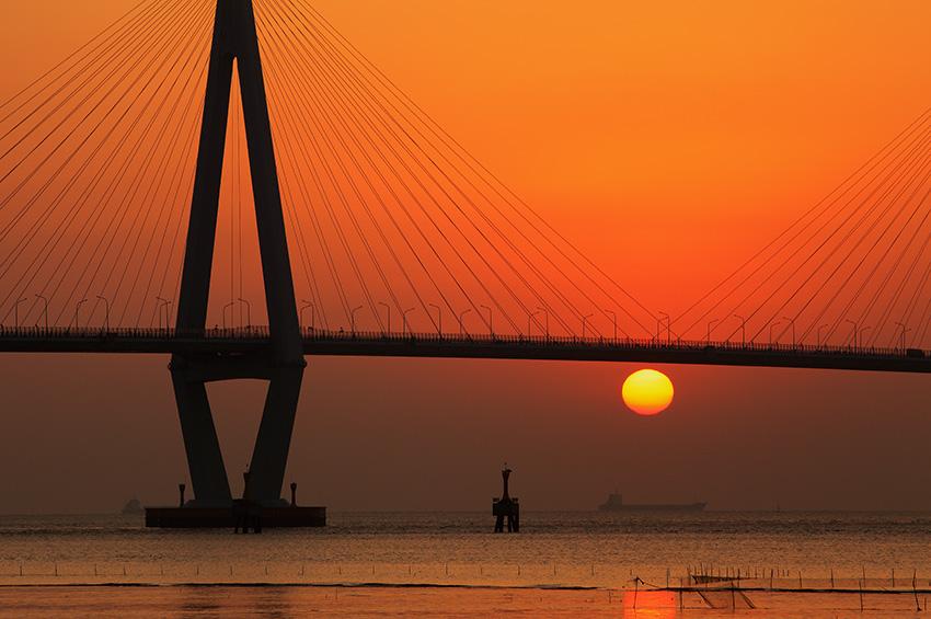 古木飞舟作品:杭州湾跨海大桥