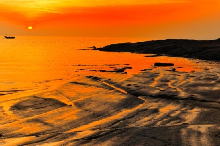 朗摄游作品:海边落日
