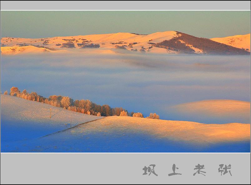 坝上老张作品:冬雾1