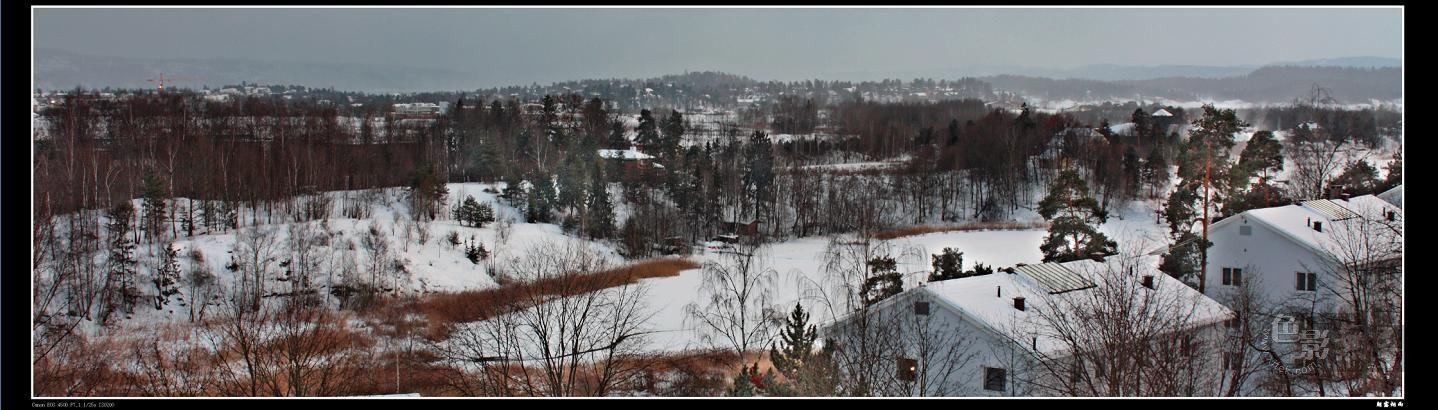 朝露烟雨作品:挪威雪景