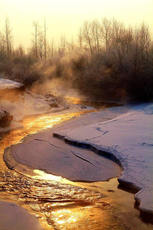 花甲一梦作品:金色的小河