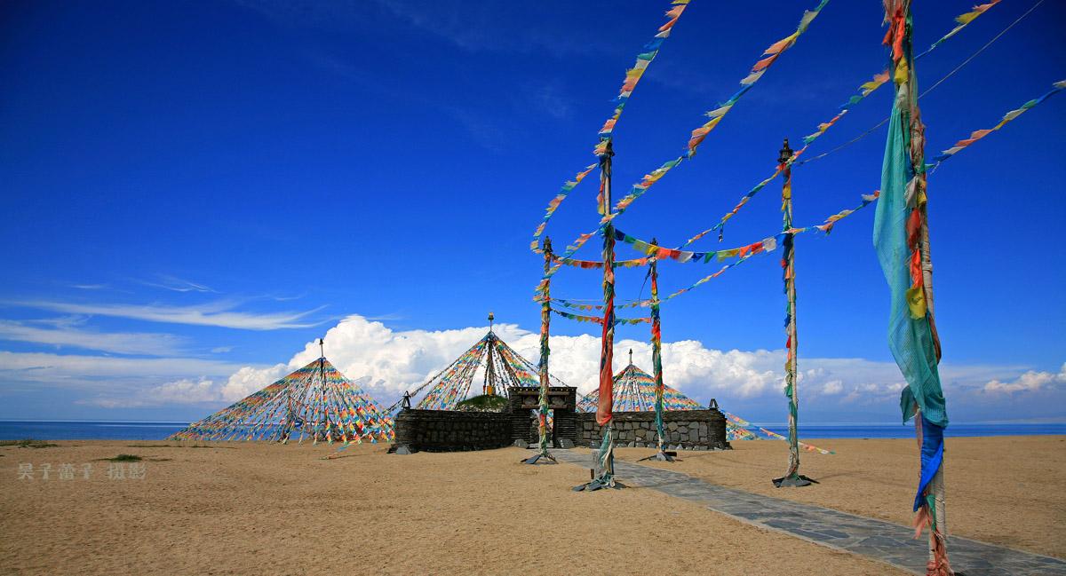 昊子蕾子作品:青海湖的经幡
