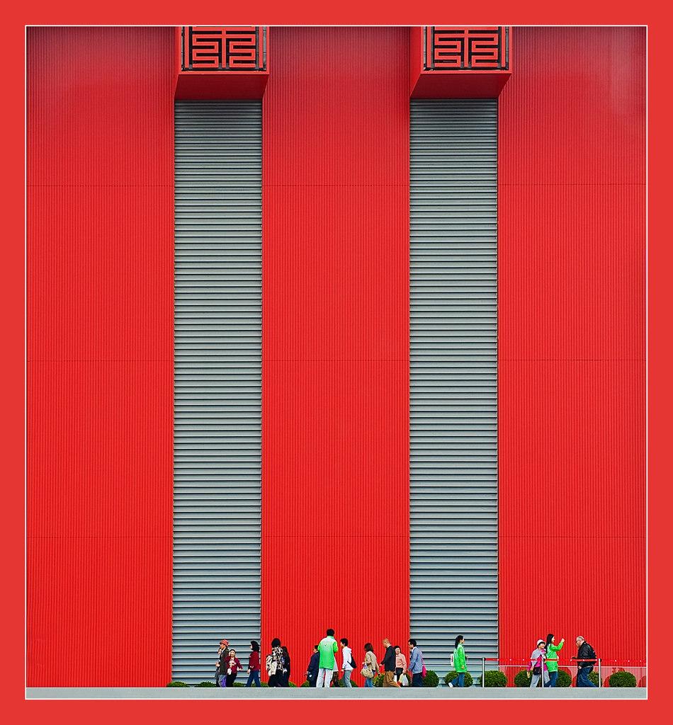 摄影知识作品:中国红世博