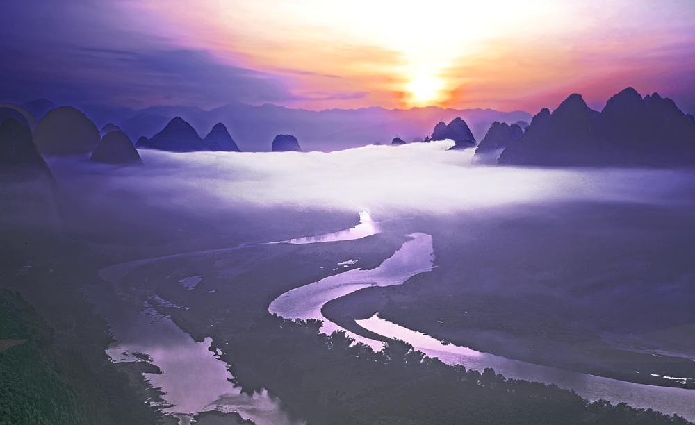 纸虎作品:雾锁仙境