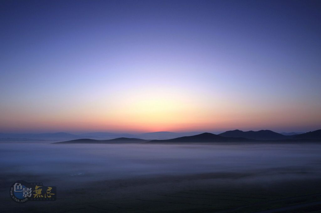 沉降作品:坝上的晨与雾1