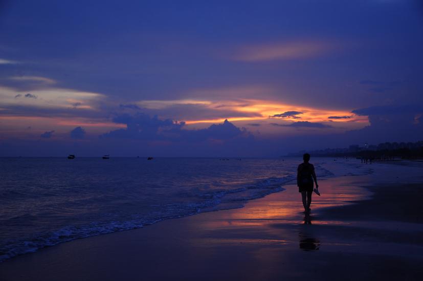 yjhff作品:海上日落
