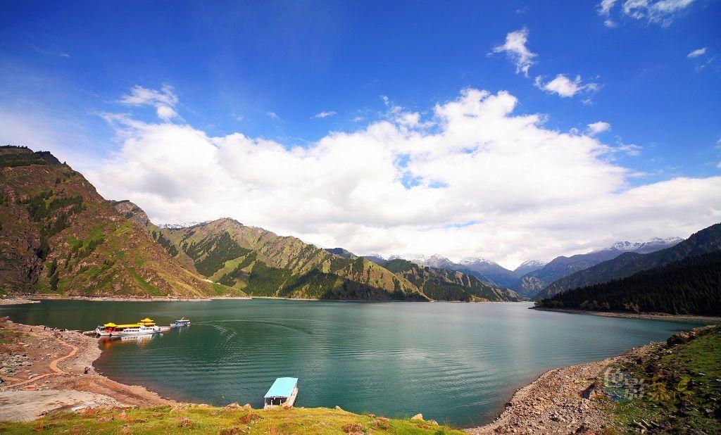 沉降作品:新疆-天池