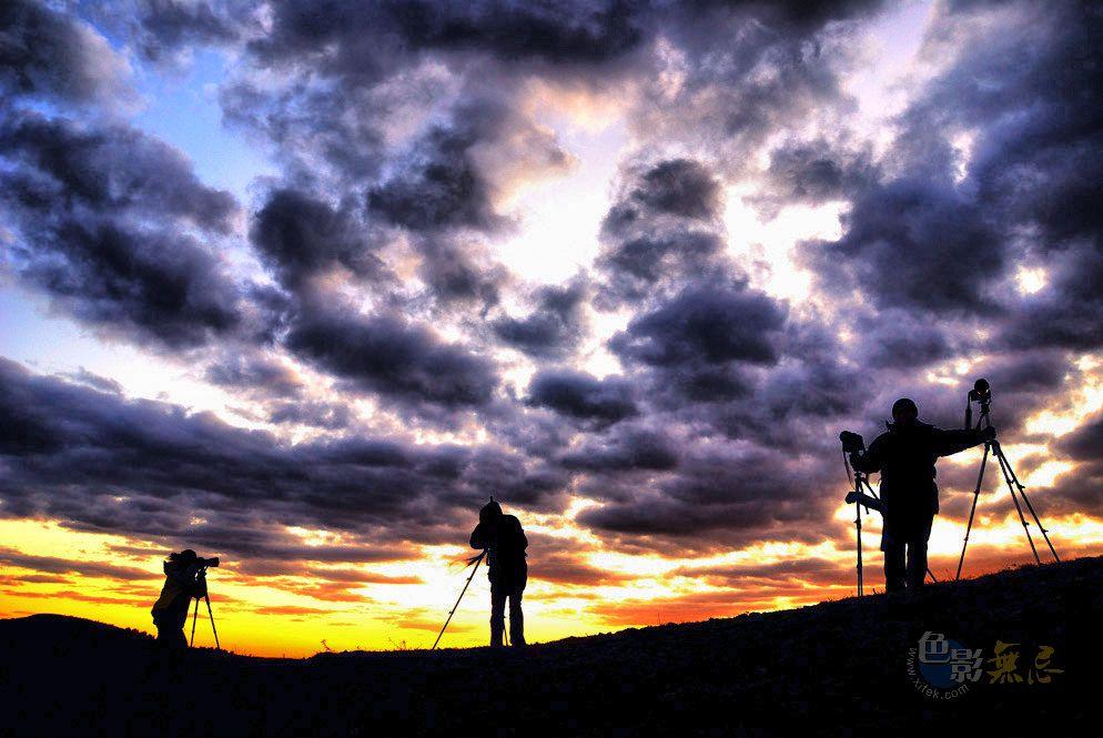 清晨的霞作品:摄夕阳