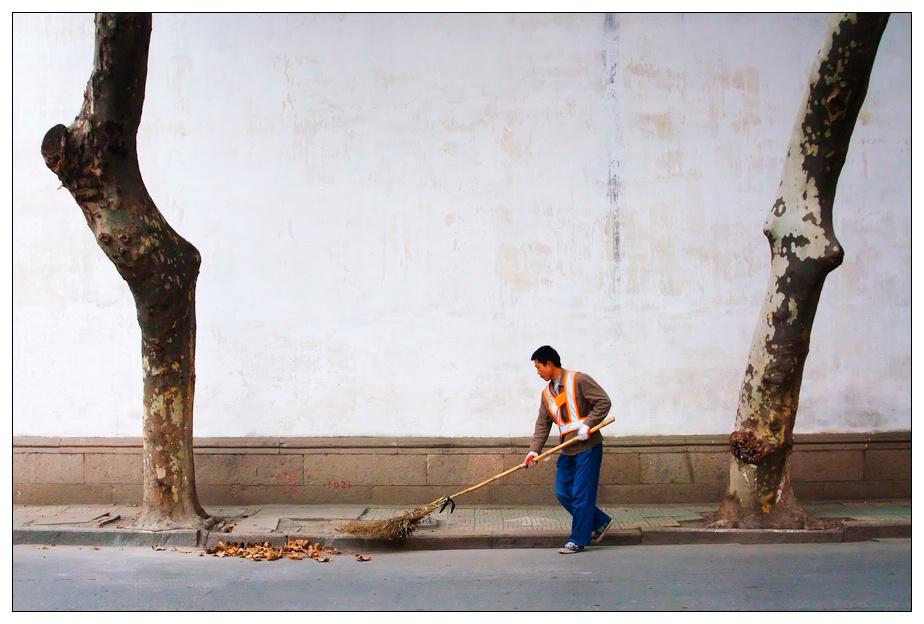 纪冰作品:当扫街遇到扫街