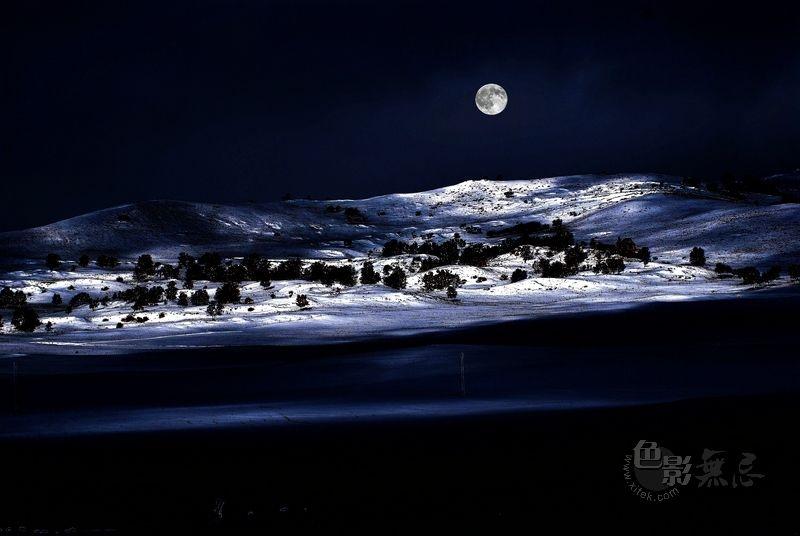 金亭作品:坝上雪夜