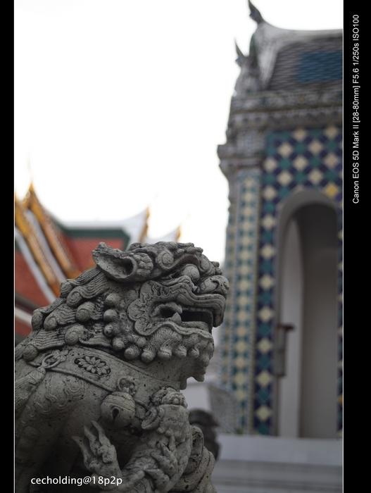 warcow作品:泰皇宫的中国狮子