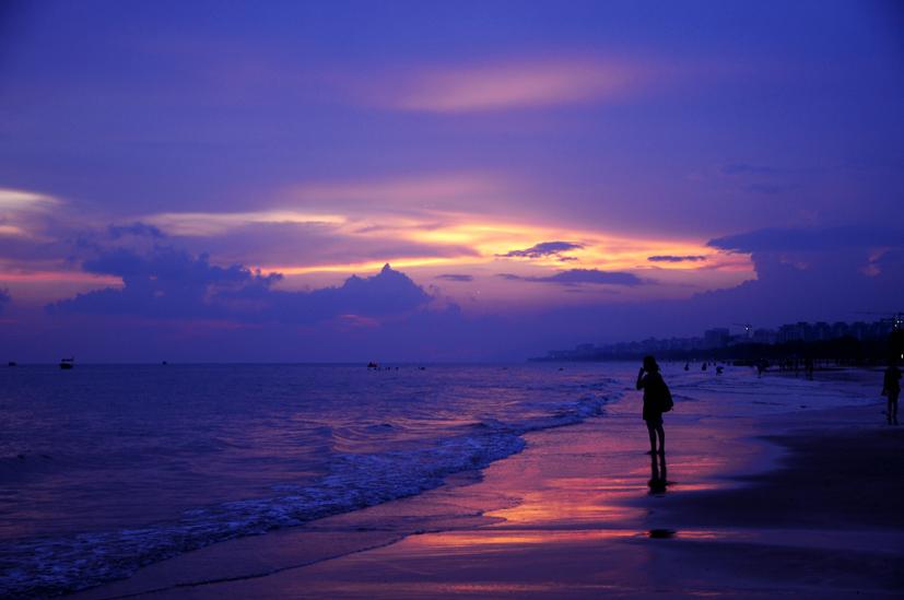 yjhff作品:海上日落1