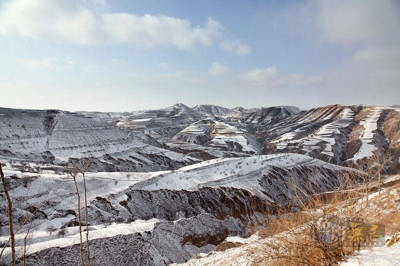 【黄土高坡的雪景】