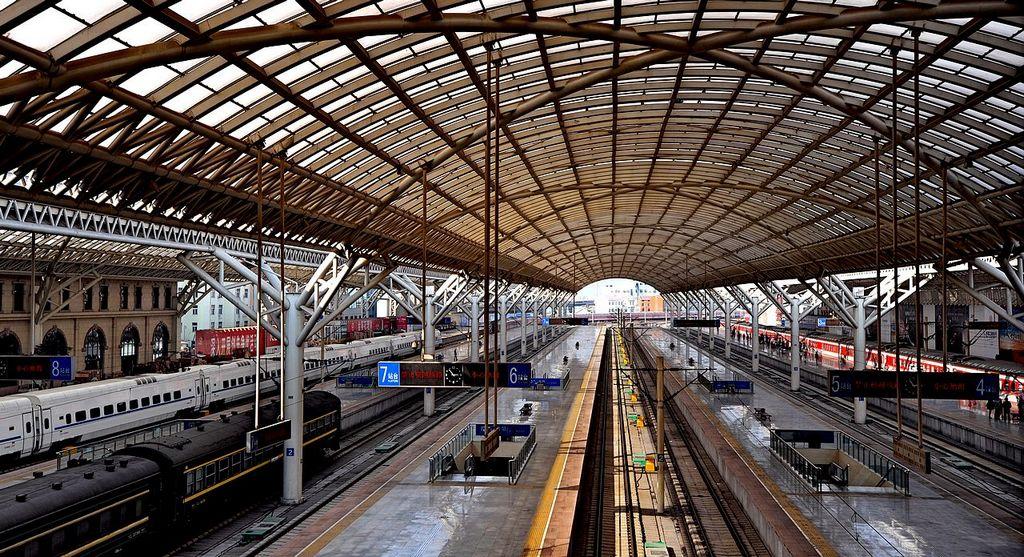青岛火车站掠影