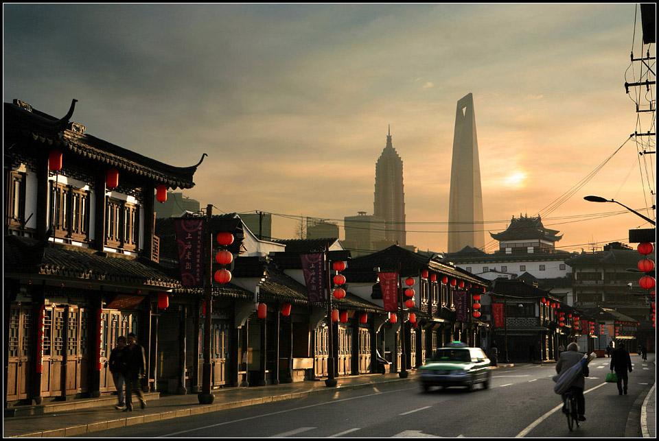 老白兔作品:上海老街
