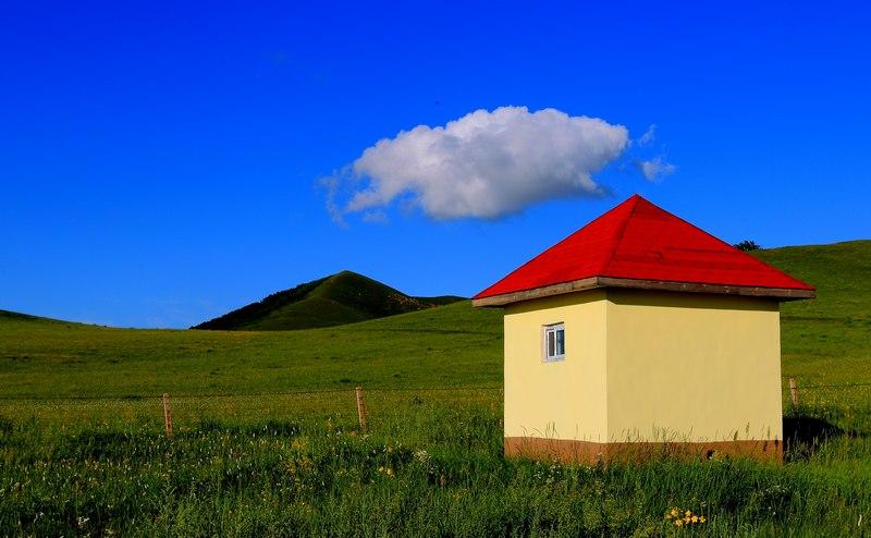 小程的故事作品:草原-木屋