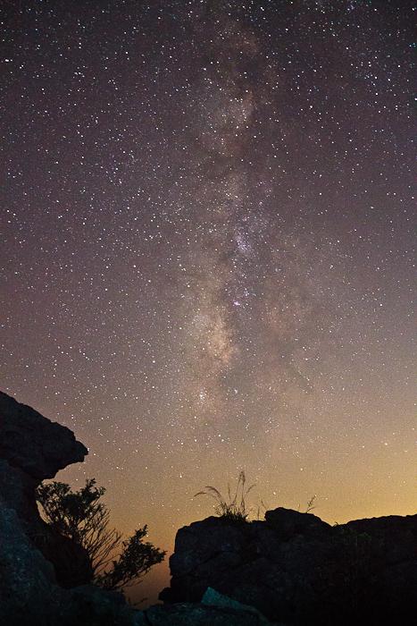 在通往摄影的途中作品:南天的银河