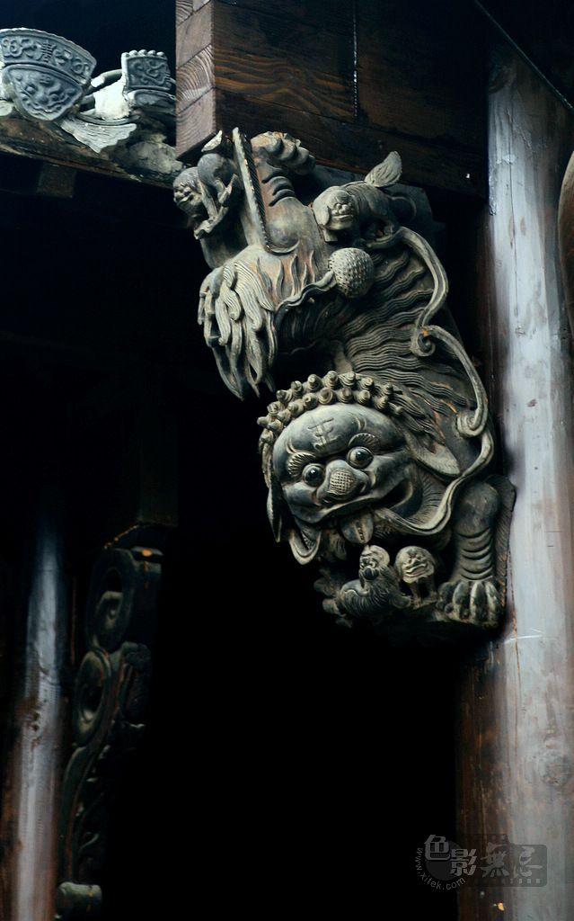 沉降作品:木雕作品