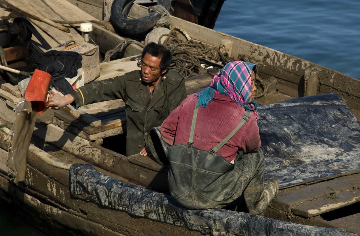 田园老翁作品:渔民