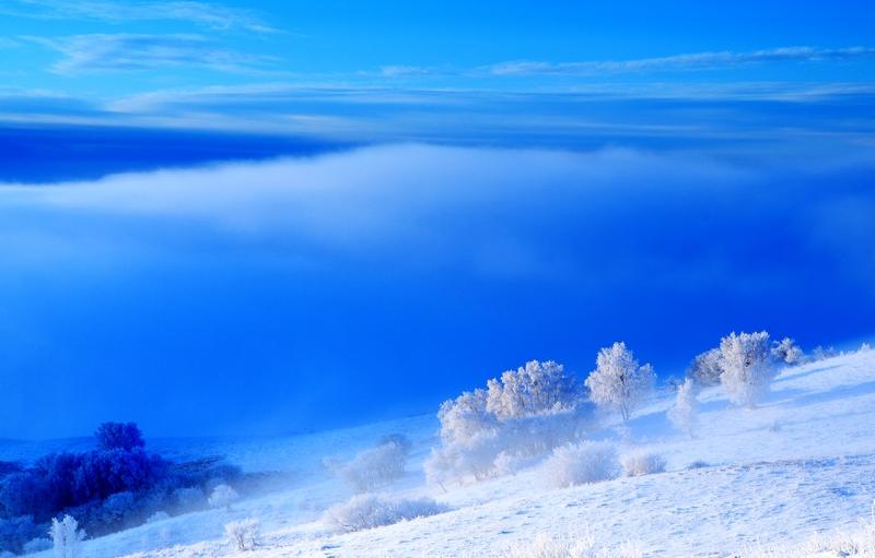 坝上老张作品:坝上冬雪摄影之一:雾凇