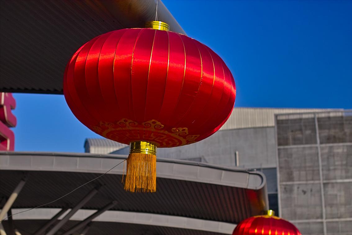 良晨玫景作品:大红灯笼