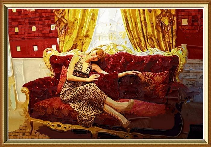 尽心镜意作品:伯利玛的美女油画