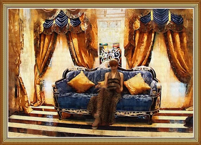 尽心镜意作品:伯利玛的美女油画4
