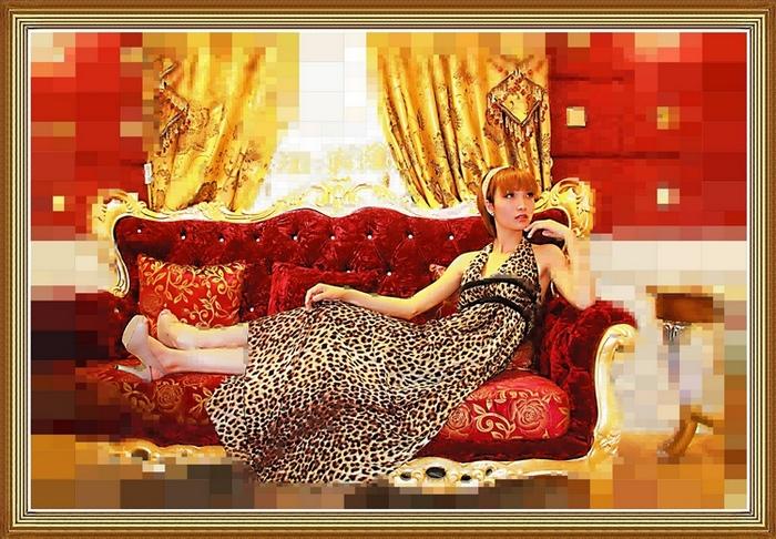 尽心镜意作品:伯利玛的美女油画5